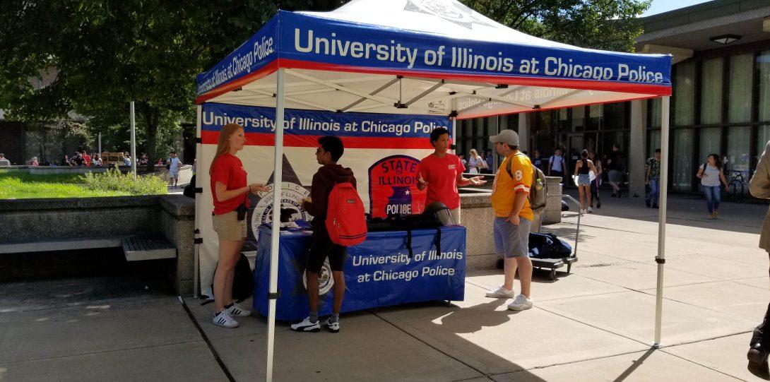 Student Patrol members at UIC Involvement Fair