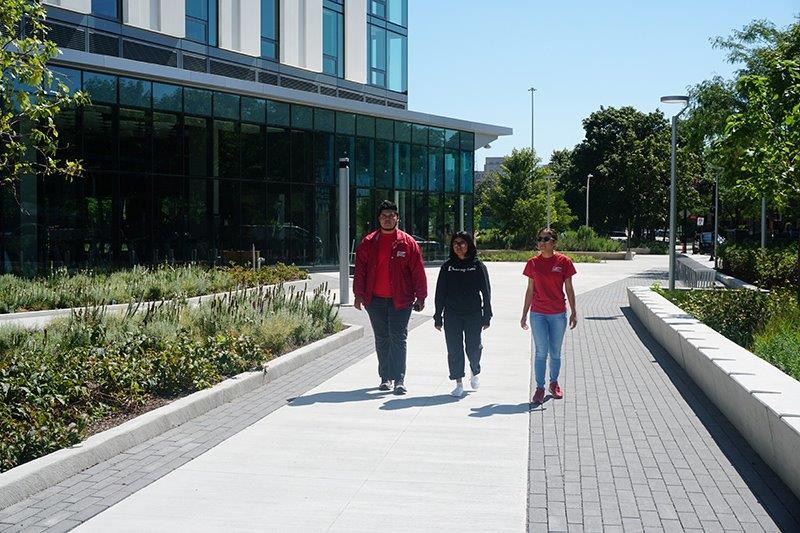 Student Patrol walking on campus